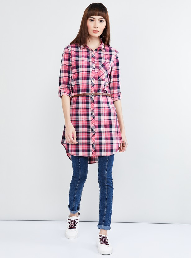 MAX Checked Full Sleeves Tunic