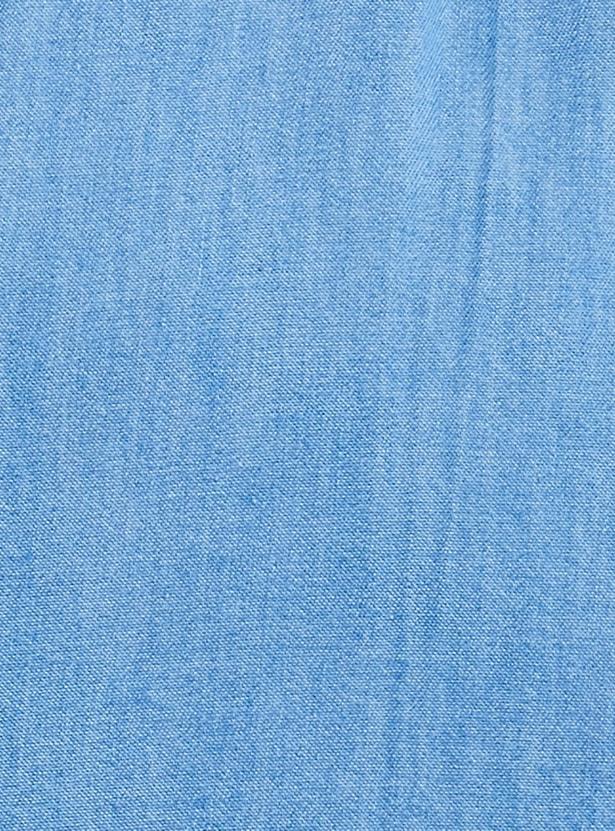 MAX Solid Full Sleeves Denim Tunic