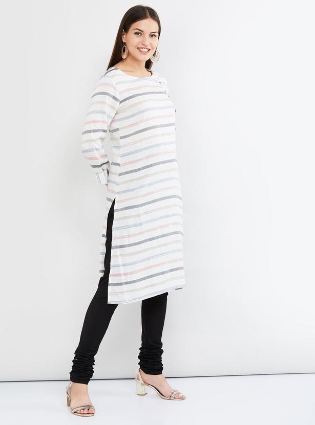 MAX Striped Straight Kurta
