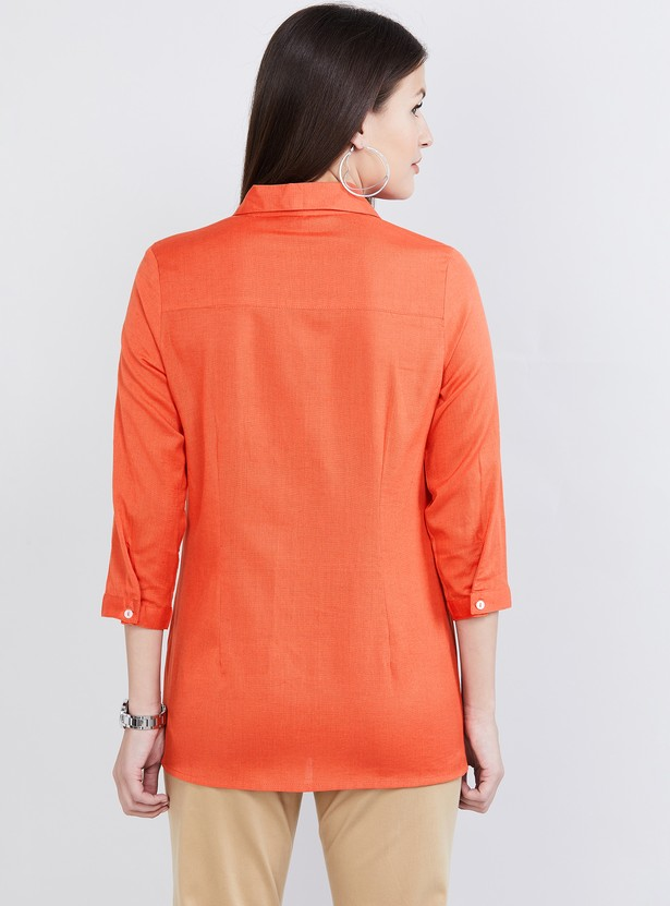 MAX Solid Collared Tunic
