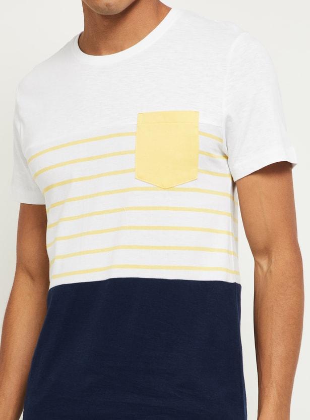 MAX Colourblocked Crew Neck T-shirt