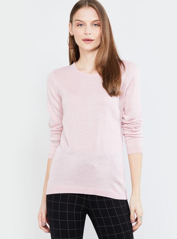 MAX Textured Round-Neck Sweater