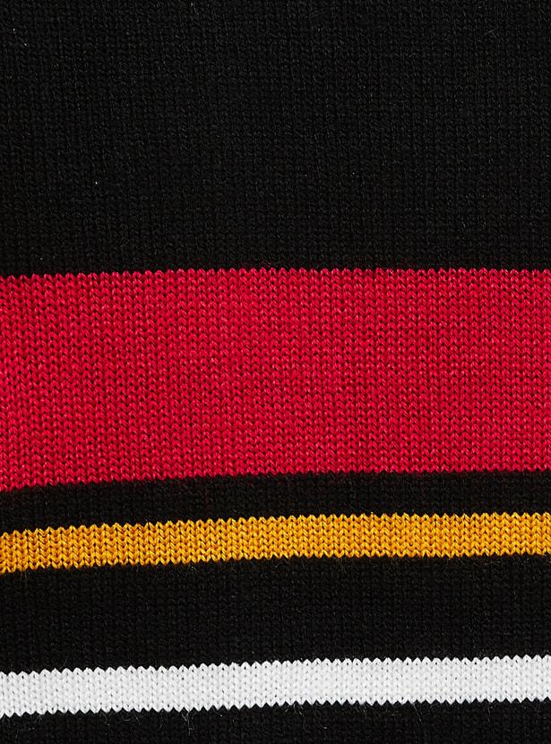 MAX Striped Zip-Through Sweater