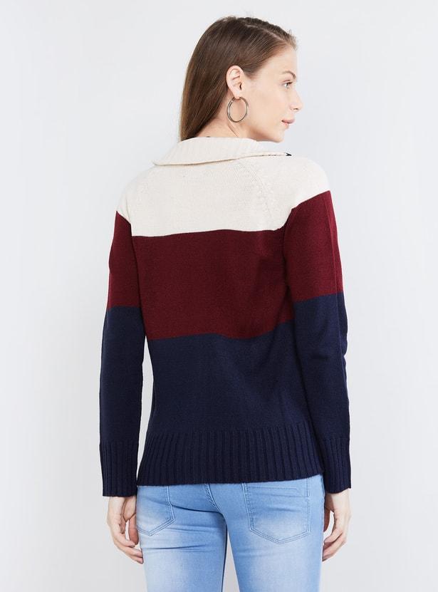 MAX Textured Zip-Closure Sweater