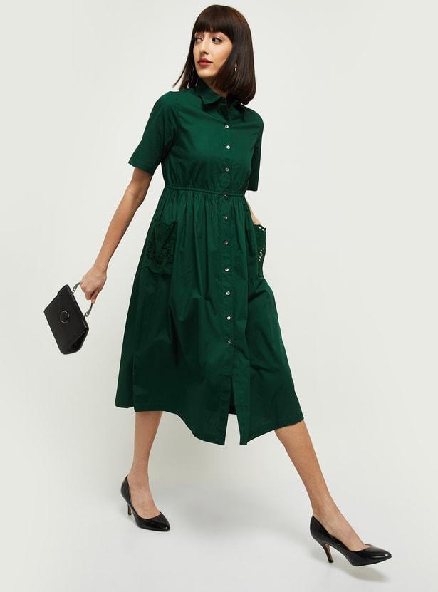 MAX Solid Shirt Dress
