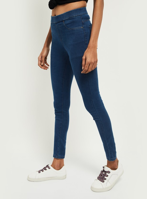 MAX Solid Skinny Fit Jeggings