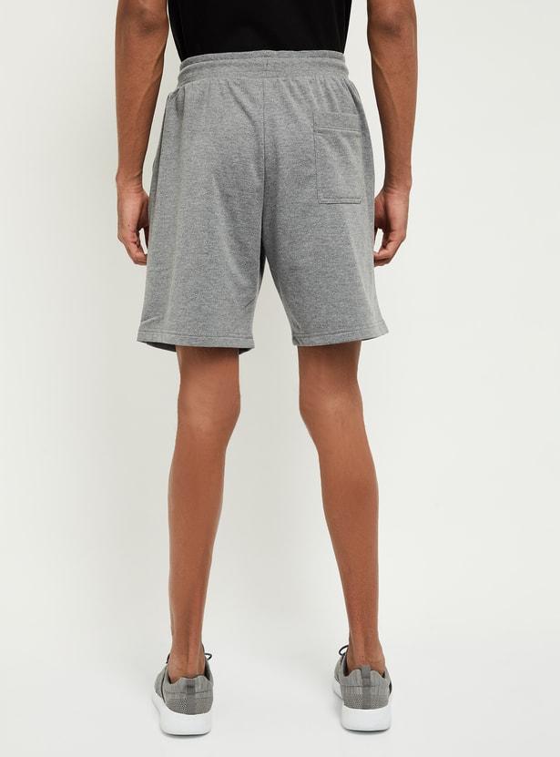 MAX Printed Sports Shorts with Slant Pockets
