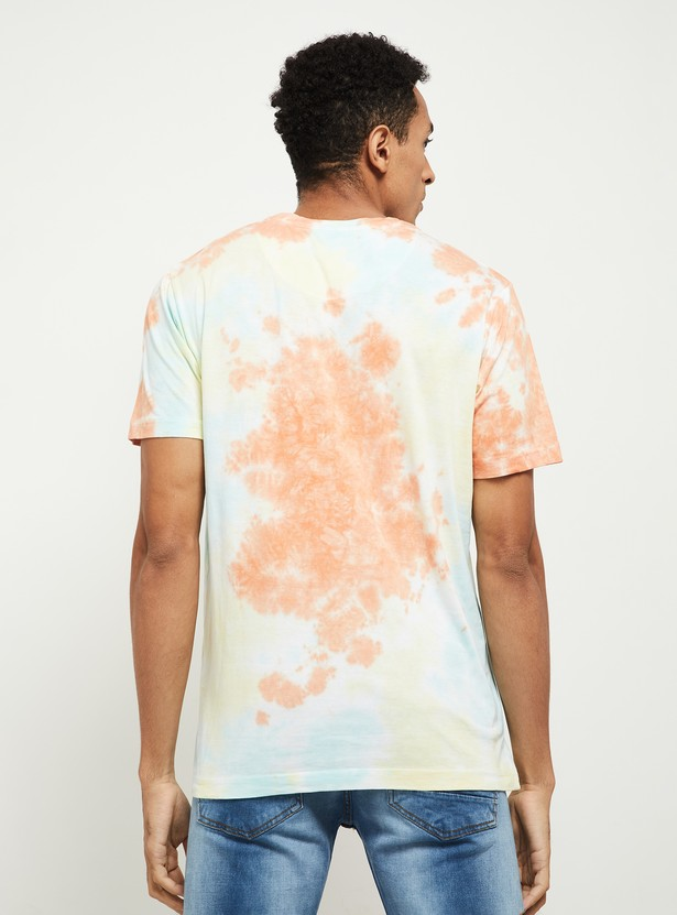 MAX Tie and Dye Ultra Slim Fit Crew Neck T-shirt