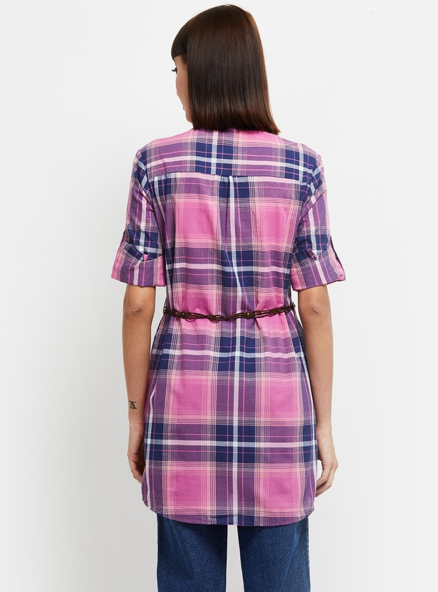 MAX Checked Tunic with Belt