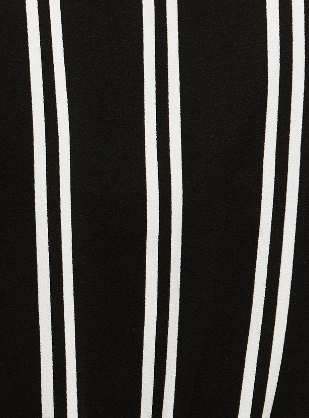 MAX Striped Surplice Neck Jumpsuit
