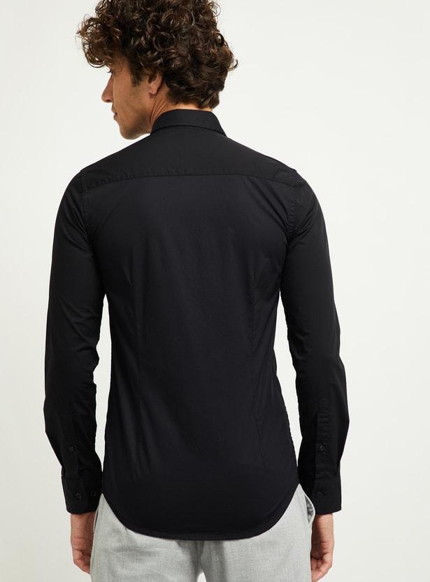 MAX Solid Regular Fit Smart Casual Shirt
