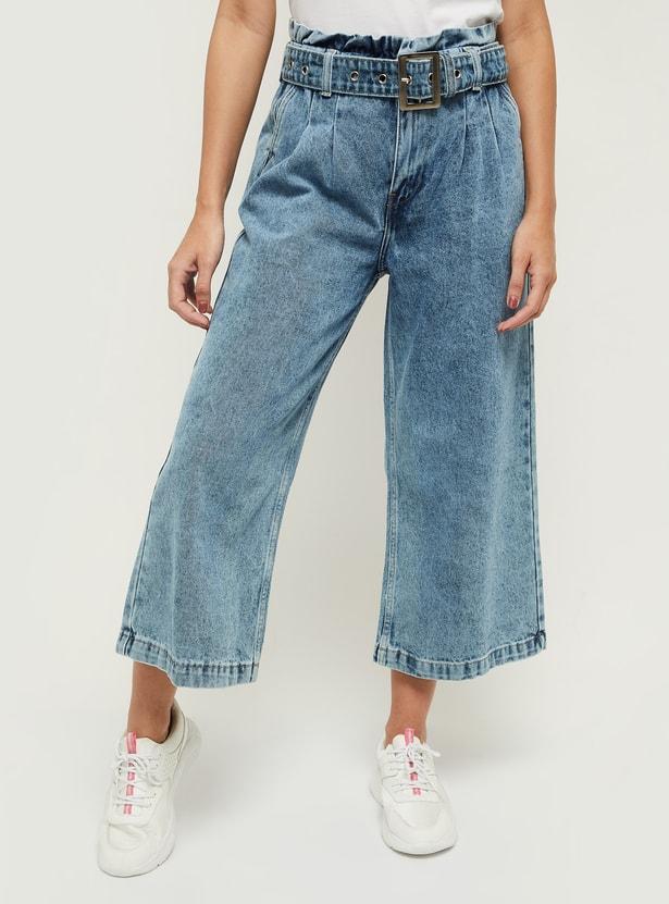 MAX Washed Flared Denim Trousers - Eco Wash