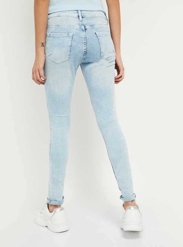 MAX Stonewashed Skinny Fit Jeans - Eco Wash