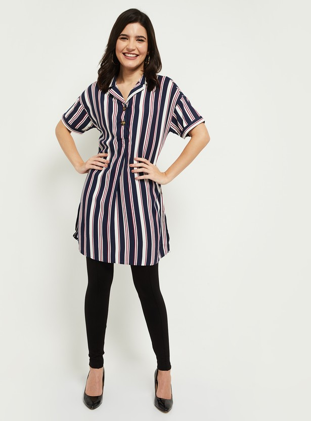 MAX Striped Short Sleeves Tunic