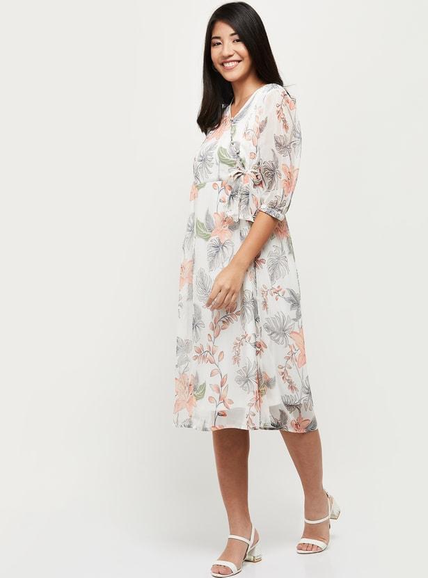 MAX Floral Print Wrap Dress