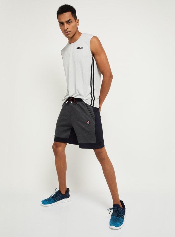 MAX Colourblocked Drawstring Waist Shorts