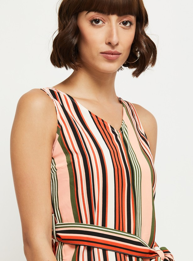 MAX Striped Cropped Jumpsuit