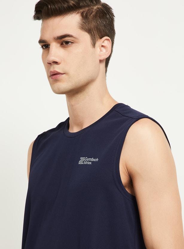 MAX Printed Sleeveless Crew Neck T-shirt