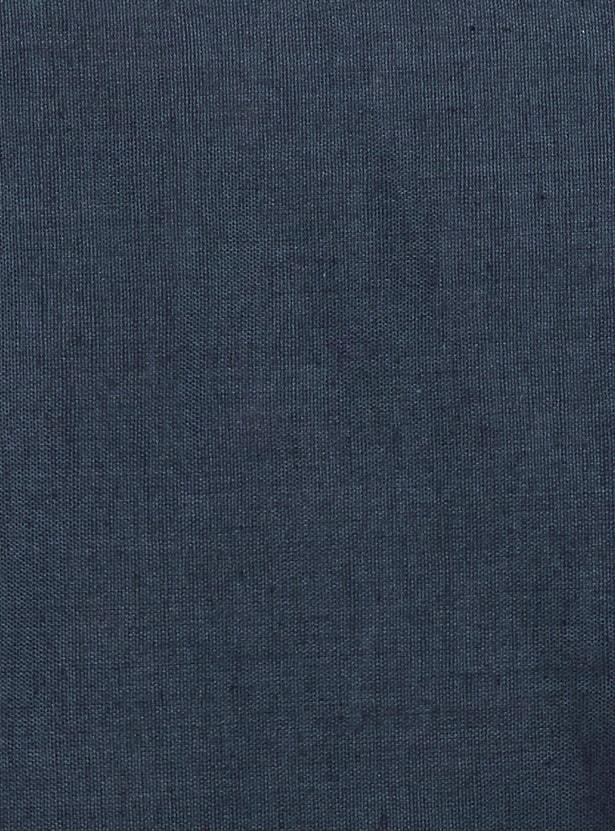 MAX Embroidered Three-quarter Sleeves Straight Kurta