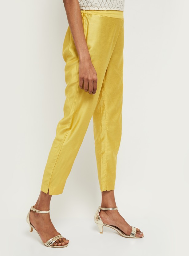 MAX Solid Elasticated Straight Pants