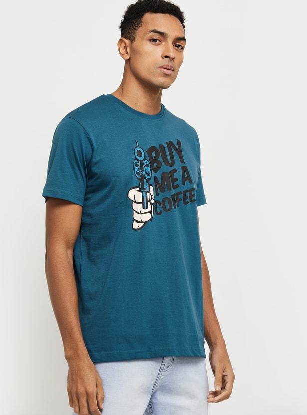 MAX Printed Crew Neck Slim Fit T-shirt