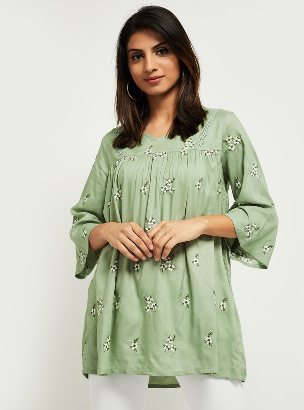 MAX Floral Embroidered Tunic