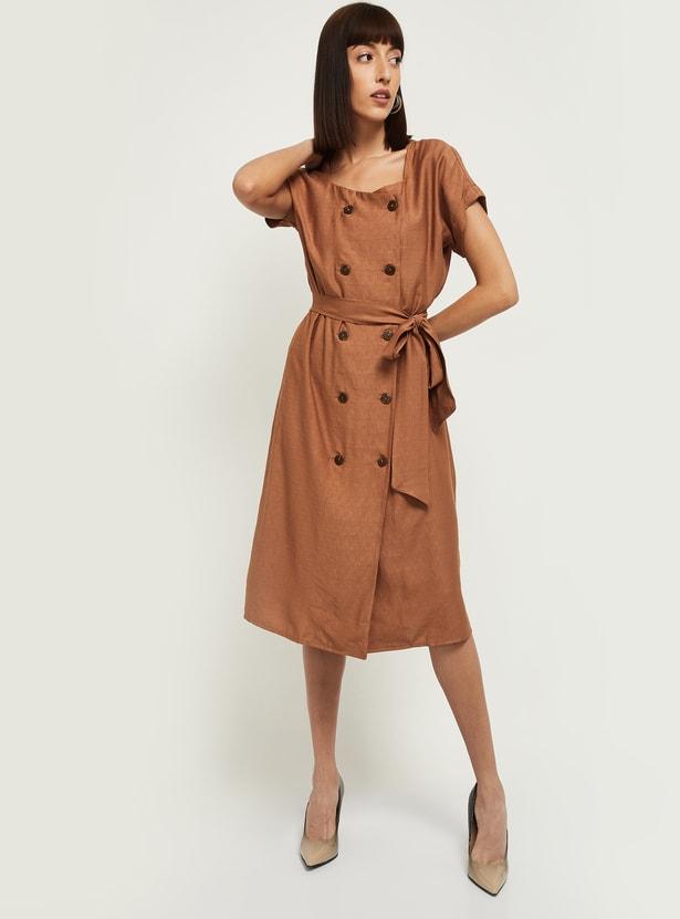 MAX Solid A-line Dress