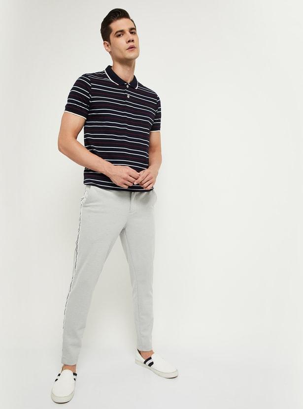 MAX Striped Short Sleeves Slim Fit Polo T-shirt