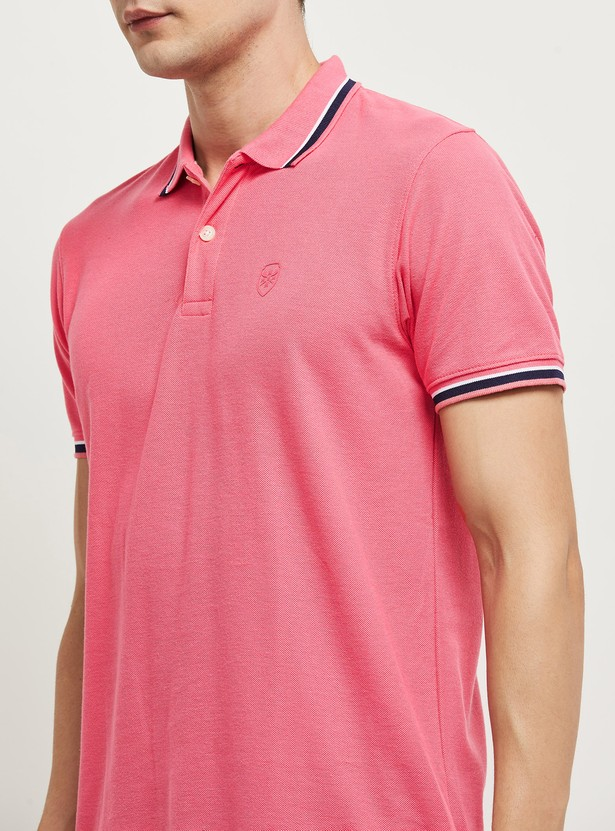 MAX Solid Slim Fit Polo T-shirt