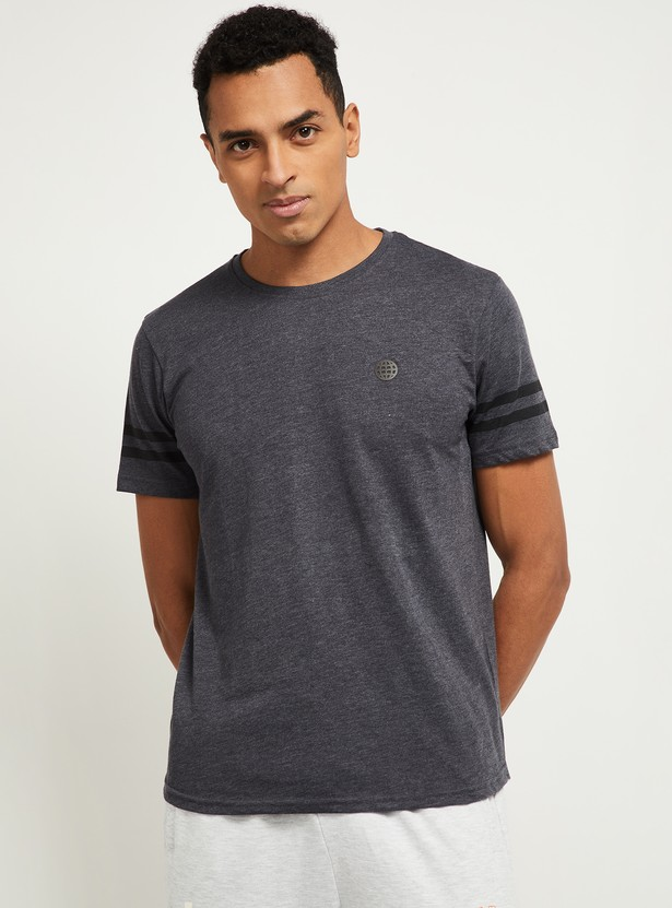 MAX Textured Slim-Fit Crew Neck T-shirt