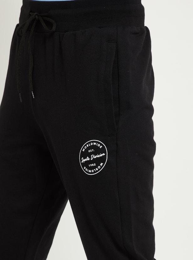 MAX Printed Drawstring Waist Track Pants