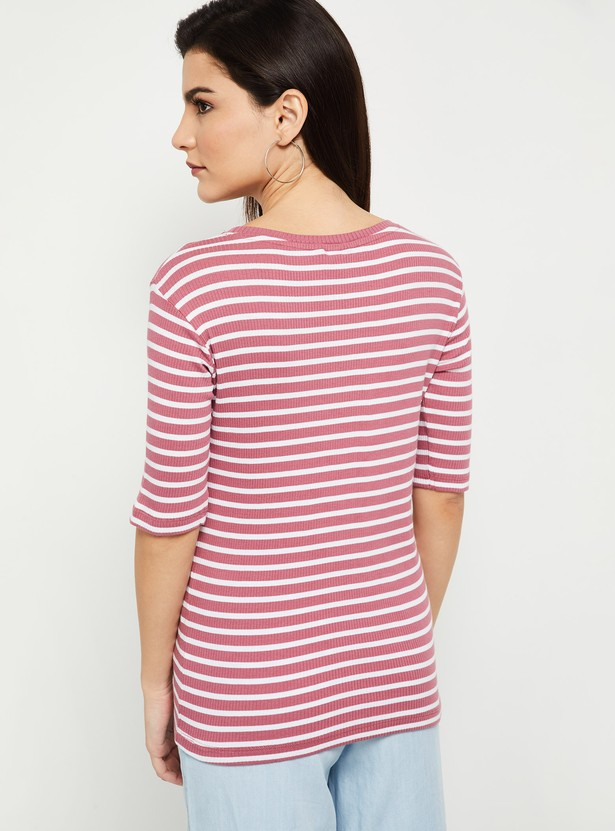 MAX Striped Knitted T-shirt