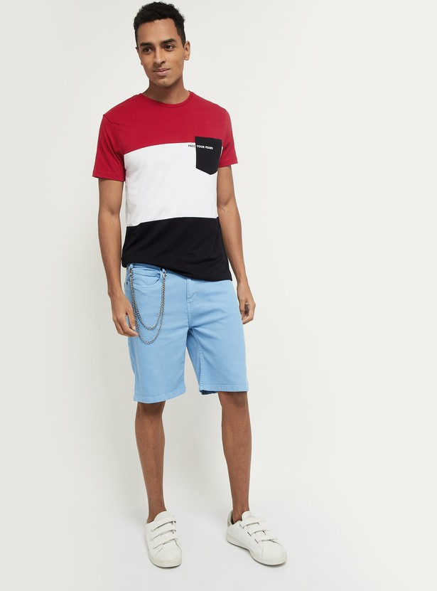 MAX Colourblocked Regular Fit T-shirt