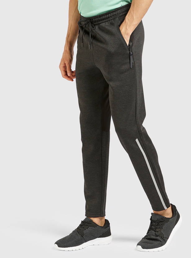Solid Track Pants with Pocket Detail and Drawstring Closure