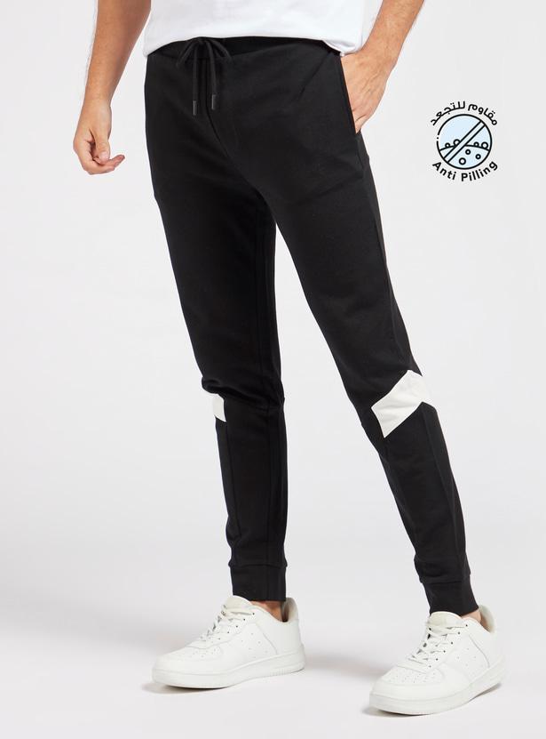 Solid Jog Pants with Pocket Detail and Drawstring Closure