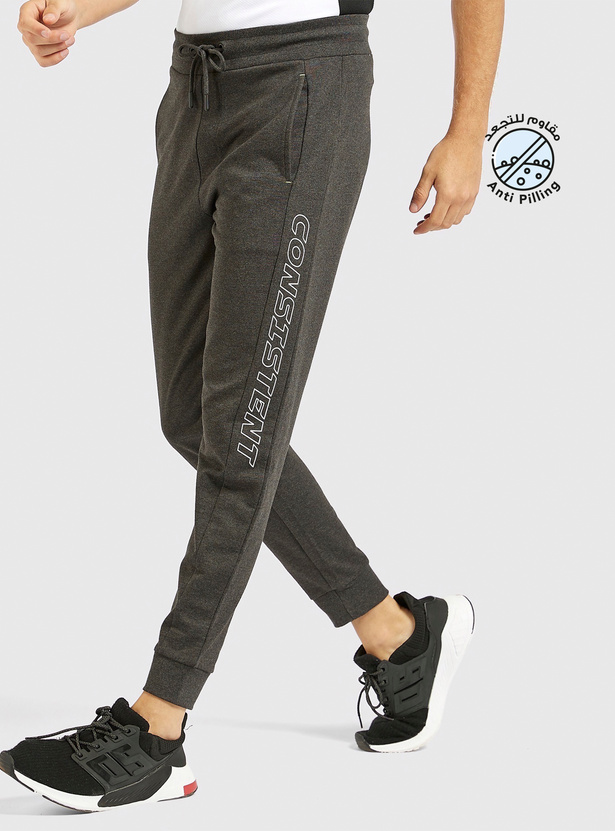 Printed Jog Pants with Drawstring and Pockets