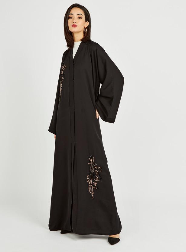 Embellished Detail Abaya with Long Sleeves