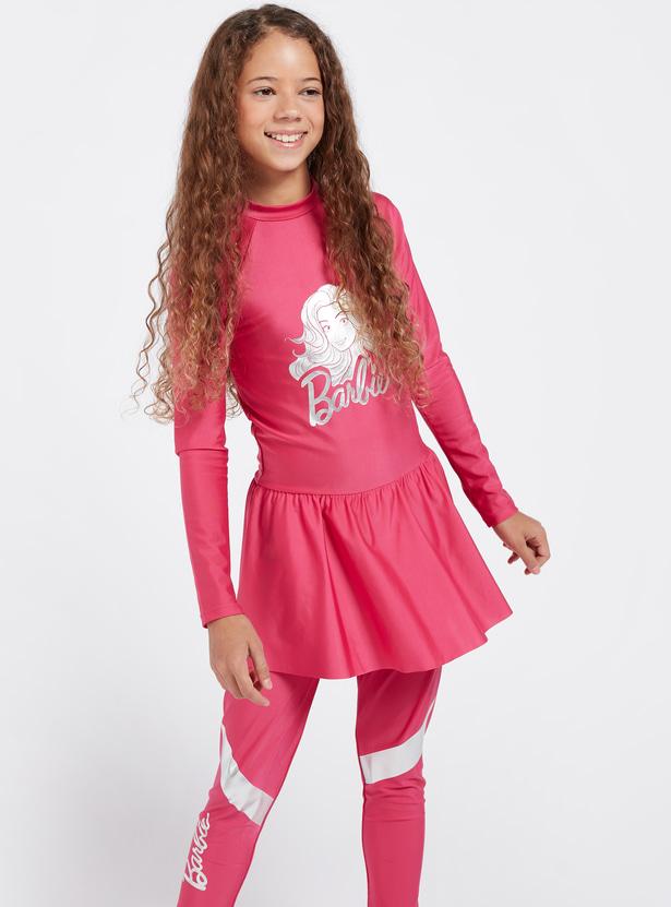 Barbie Print 2-Piece Burkini