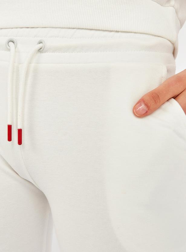 Fearless Print Jog Pants with Pocket Detail and Drawstring