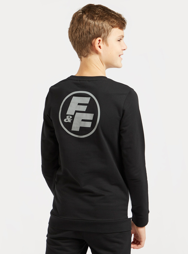 Fast and Furious Graphic Print Sweatshirt with Long Sleeves