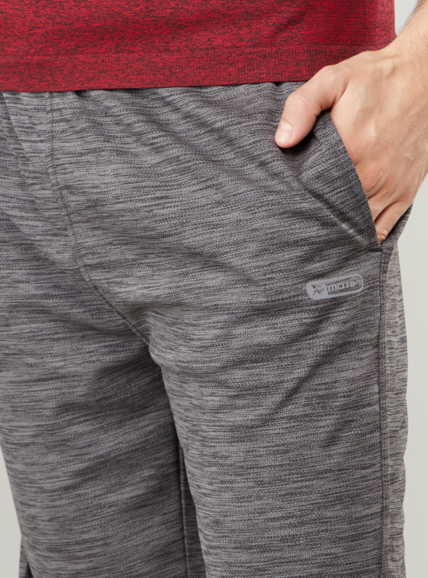 Textured Quick Dry Reflective Shorts with Pocket Detail