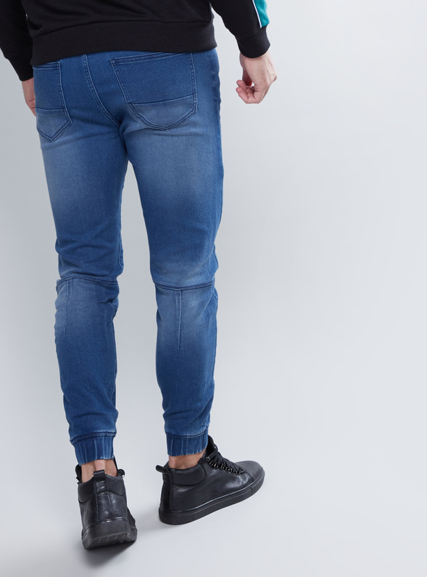 Slim Fit Full Length Jog Pants with Pocket Detail and Drawstring