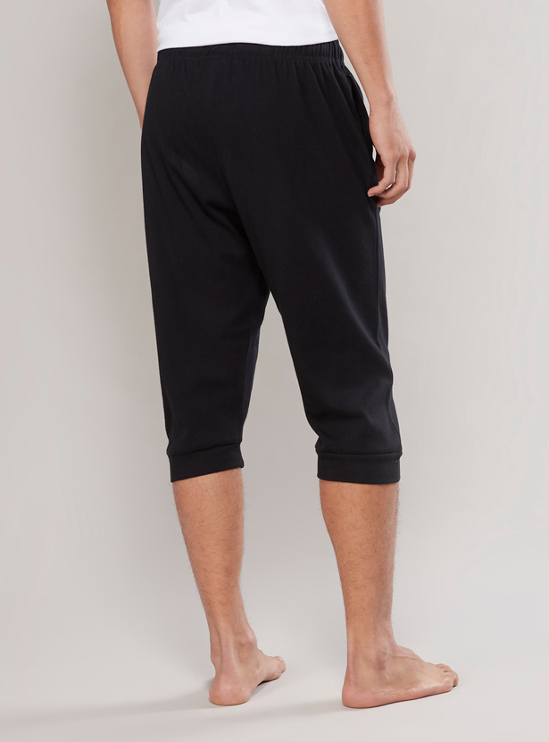 Pocket Detail Capris with Drawstring