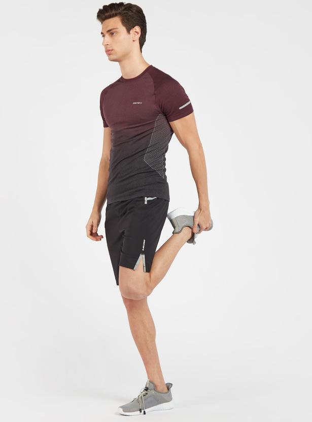 Seamless Knee Length Shorts with Elasticated Waistband