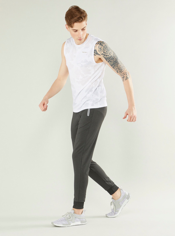 Printed Slim Fit Joggers with Zippered Pockets