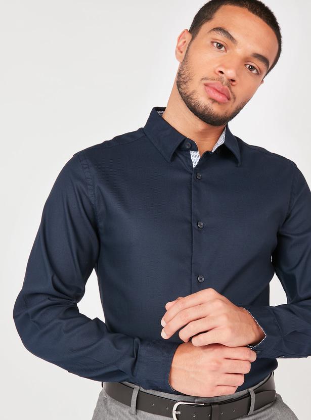 قميص سليم سادة بأكمام طويلة