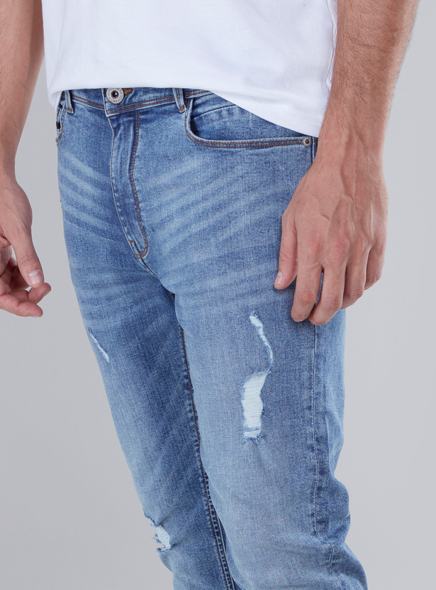 Distressed Jeans  in Skinny Fit with Pocket Detail