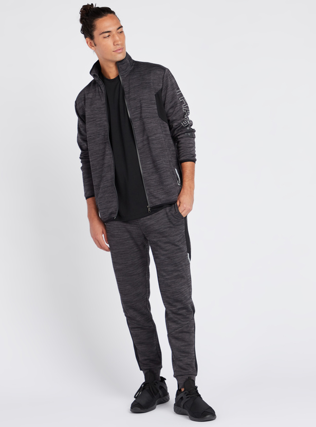 Space Dyed Jacket with High Neck and Long Sleeves