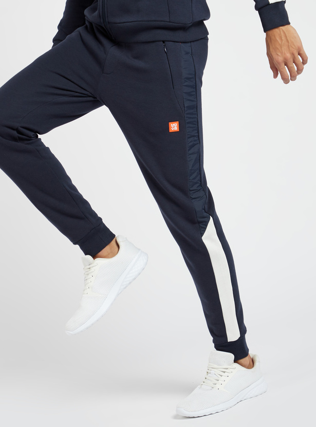 Solid Jog Pants with Pocket Detail and Drawstring