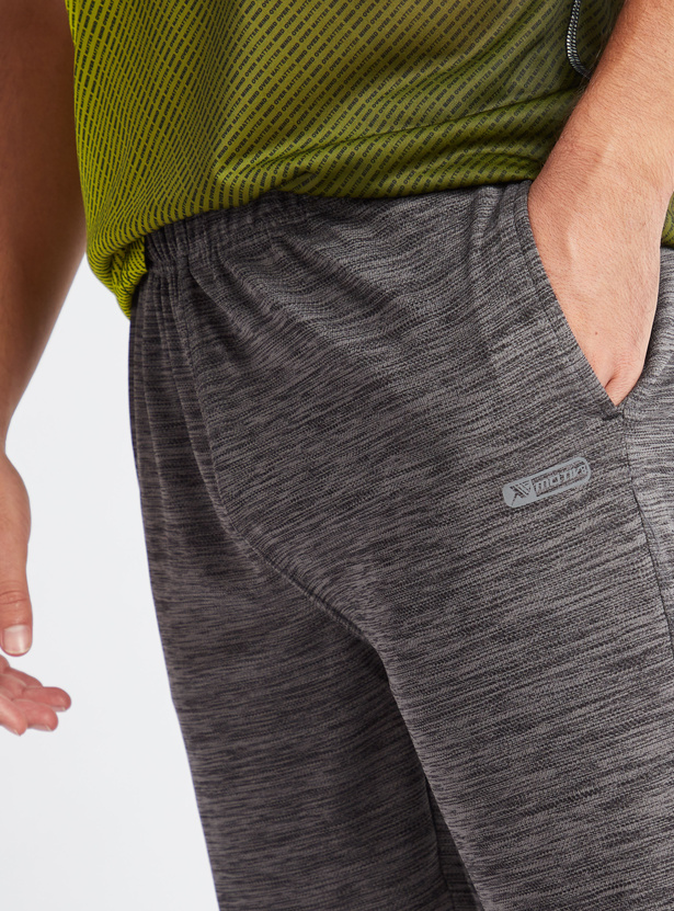 Knee Length Textured Shorts with Pockets